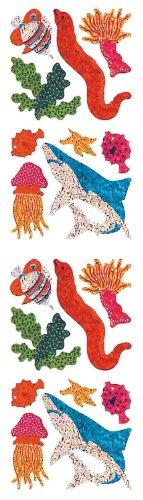 Jillson Roberts Prismatic Stickers, Mini Aquatic Reef Assortment, 12-Sheet Count (S7053)