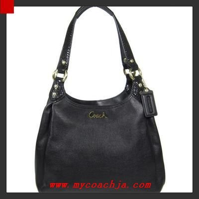 coach bag black and gray 4k0z  Coach Ashley Black Leather Hobo Bag 21926