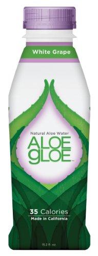 ALOE GLOE Natural Aloe Water, White Grape Pulp Free, 15.2-Ounce (Pack of 12)