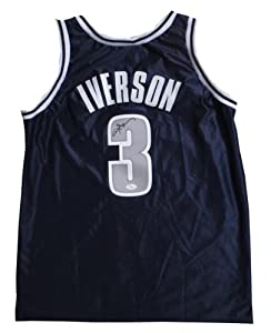 Allen Iverson Autographed Georgetown Basketball Signed Jersey JSA COA by Powers Collectibles