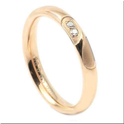 秘密のハートリングピンクダイヤモンド0.015ctマリッジ結婚指輪ステンレス13号