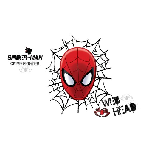 RoomMates RMK2172GM Ultimate Spider Man Web Head Peel and Stick Wall Decals, 1-Pack - 1