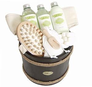 Set da bagno Wellness Igiene personale SPA in piccolo tino di legno da ...