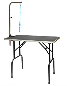 Go Pet Club Pet Dog Grooming Table with Arm, 36-Inch