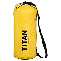 Waterproof Dry Bag, 500D PVC Fabric, 20L for Boating, Kayaking, Rafting, Canoeing, Hiking, Backpacking & More | Watertight Roll-Top Closure & Detachable Adjustable Shoulder Strap