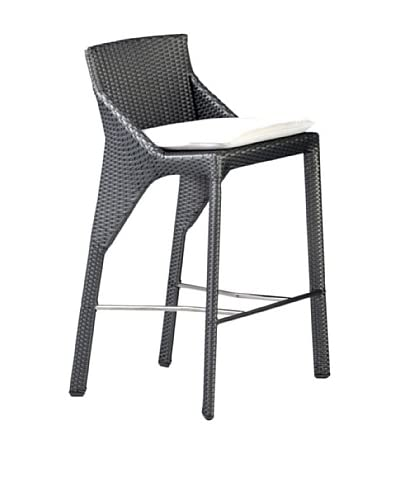 Roche Bobois Bel Air Grey All Weather Stool