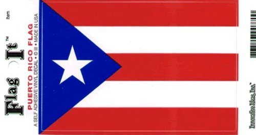 Puerto Rico flag decal for auto, truck or boat (Puerto Rico Auto Decals compare prices)