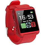 Intex AQUA GLORY COMPATIBLE Smart Android U8 Bracelet U Watch and Activity Wristband, Wireless Bluetooth Connectivity Pedometer COMPATIBLE WITH XOLO RED BY ESTARAndroid/IOS Mobile Phone Wrist Watch Phone with activity trackers and fitness band features by