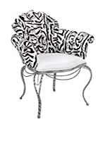 Contemporary Black & White Sillón Elisabeth