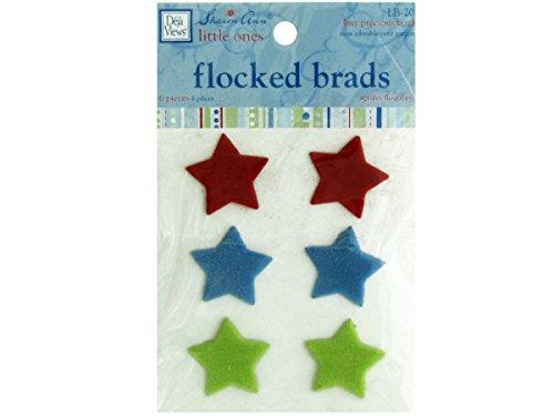 bulk buys My Precious Boy Flocked Star Brads