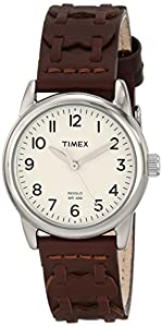 Timex Women's T2N902 Weekender Brown Leather Strap Watch