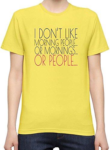 I Don't Like Morning People Slogan T-Shirt per Donne XX-Large