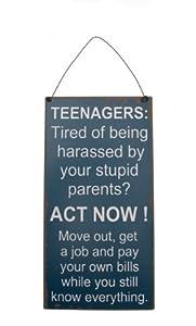 Teenagers Humorous Metal Wall Sign