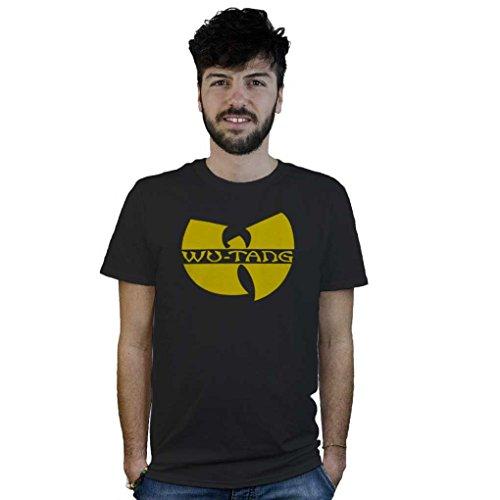 T-Shirt Wu Tang Clan, maglietta nera con logo hip hop, musica hardcore rap