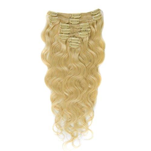 moresoo-16inch-90g-7pcs-100-unprocessed-body-wave-virgin-remy-human-hair-bleach-blonde613-clip-in-ha