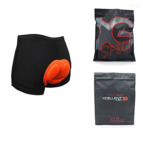 Xcellent Global 3D Padded Men's Bicycle Cycling Underwear Shorts Underpants - FS001M, Mens-Black, Medium (Man Cycling Clothes compare prices)