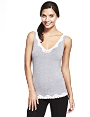 Limited Collection Lace Trim Vest Top