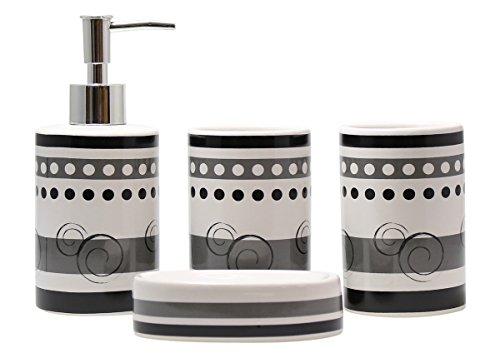 4-Piece Ceramic Bathroom Set