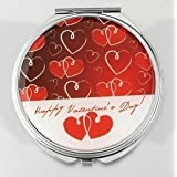 HOLI® Love Heart Round Mirror Cosmetic Mirror Compact Mirror, Gift Idea, Gift Box Includedby HOLI