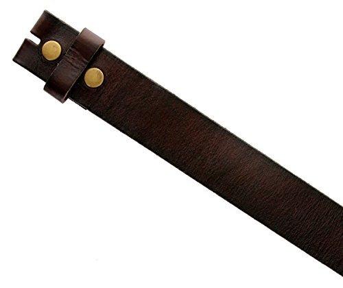 """BS-40 Vintage Full Grain Leather Belt Strap 1 1/2"""" Wide (40, Brown)"""