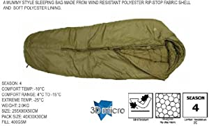 Challenger Lite 400 Sleeping Bag by Highlander Pro-Force - Extreme Cold Weather Sleeping Bag