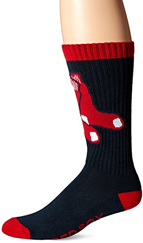 MLB Boston Red Sox Men's '47 Bolt Casual Dress Crew Socks, Large, 1-Pack (Red Sox Mlb compare prices)
