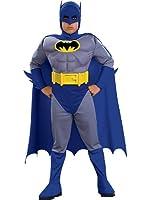 Batman Deluxe Muscle Chest Batman Child's Costume-Blue