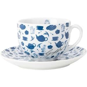 Tetley Tea Folk Cups and Saucers, Set of 4