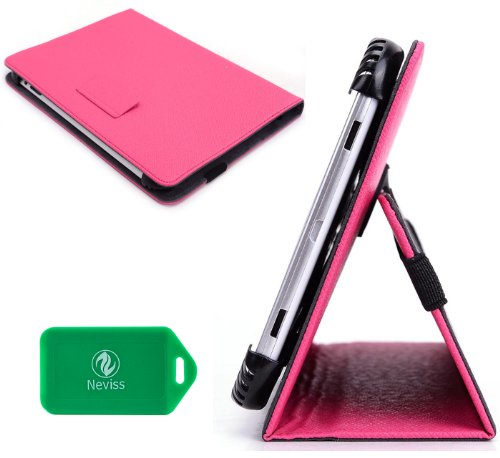 Universal 7 inch Magenta/Hot Pink Tablet Cover Case Asus Google Nexus 7 Plus Bonus Neviss Luggage Tag