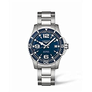 Longines Hydroconquest Men's Automatic Watch with Blue Dial Analogue Display and Silver Stainless Steel Bracelet L36414966
