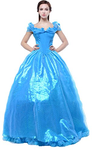 Yuting Girls Princess Costume Gown Dress Sparkly Silk Cinderella Dress