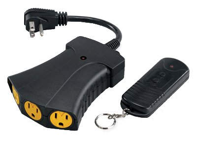 Master Electrician RC-012-1-TR-009 Heavy Duty Wireless Remote Control Outlets Power Hub Converter Kit