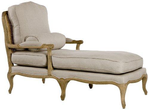 Victorian chaise lounge natural oak linen rustic vintage for Antique chaise lounge ebay