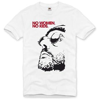style3 No Women, No Kids Homme T-Shirt le professionnel léon portman nathalie reno jean dvd blu-ray, Size:S;Color:Blanc