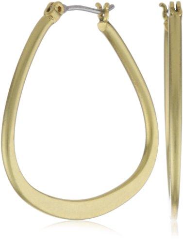 Kenneth Cole New York Gold-Tone Teardrop Hoop Earrings