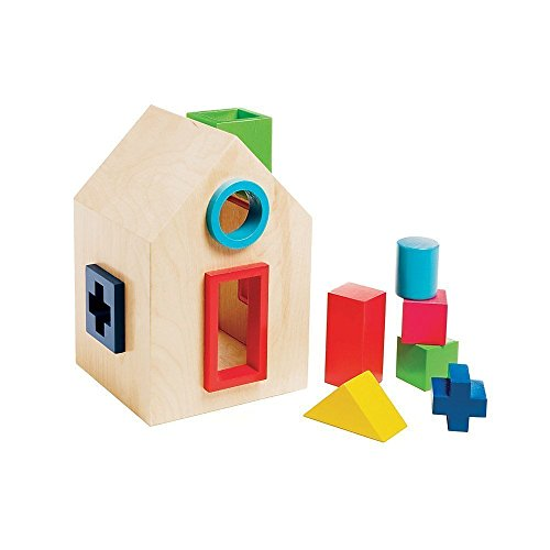 Kid O Wooden Sort-a-shape House - 1