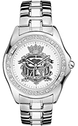 Marc Ecko Men's E95016G3 Signature Crest Silver Stainless Steel Watch