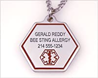 Medic ID Necklace - Hypo-allergenic Stainless Steel - Choice of size and engraving by Medic ID by Custom ID Products