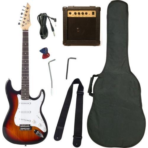 barcelona sunburst electric guitar package with 10 watt amp beginner kit. Black Bedroom Furniture Sets. Home Design Ideas