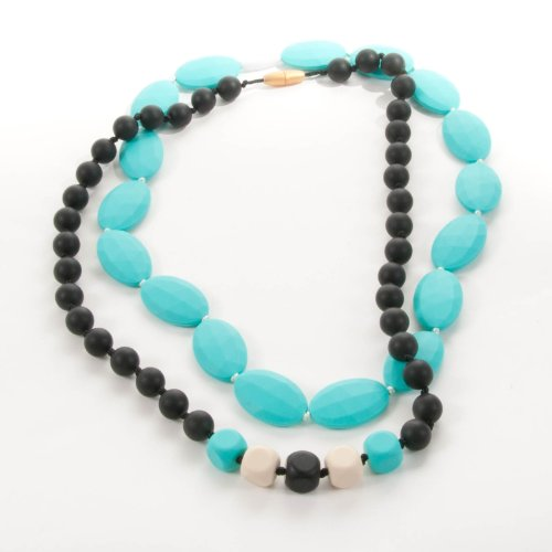 Sassy Baby Beads Mommy And Baby Chew Teething Beads Necklace Set -Desert Sky front-977607