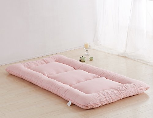 Light pink futon tatami mat japanese futon mattress cheap for Double futon bed for sale