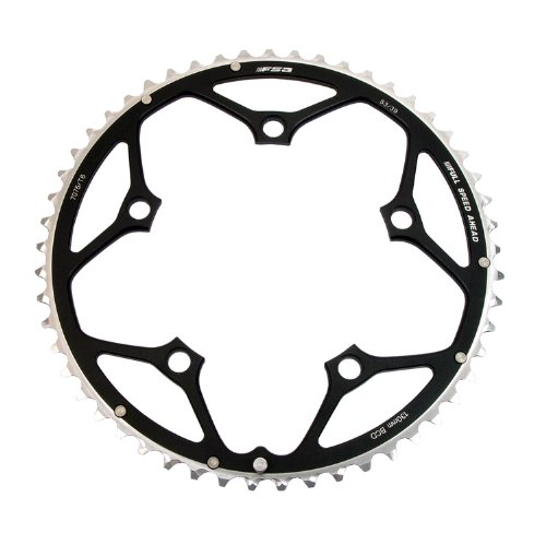 FSA Pro Road 10s 52t 130mm Black Chainring (use with 39t)