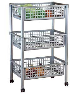 great value 3 tier vegetable trolley multipurpose. Black Bedroom Furniture Sets. Home Design Ideas