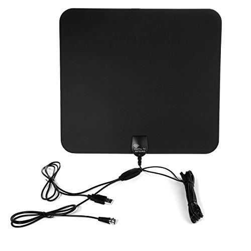 KPTEC HDTV Antenna, Ultra-Thin Digital Indoor TV Antenna – 50 Mile Range