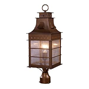 Click to read our review of Outdoor Post Lighting: ELK Lighting Colony Height 1-Light Outdoor Post Mount In Coffee Bronze