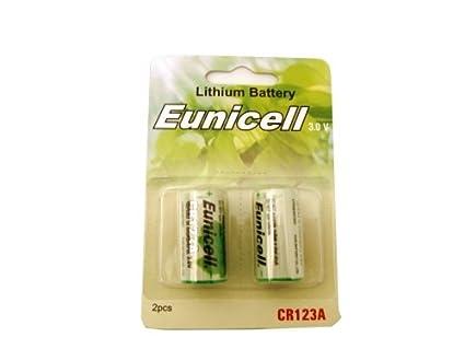 2 x Cr123 Lithium-batterie 2 x Cr123a Lithium Batteries