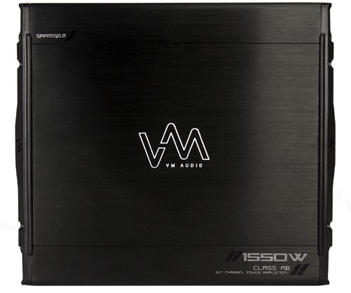 New Vm Audio Sra1550.2 1550W 2 Channel Car Amplifier Power Amp Mosfet Stereo