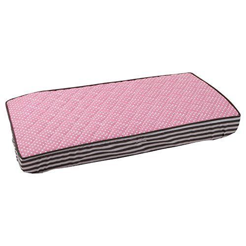 Elephants Pink/Grey pink pin dots Changing Pad Cover - 1