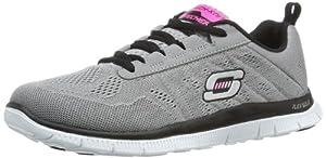 Skechers Flex AppealSweet Spot, Damen Sneakers, Grau (LGBK), 38 EU