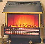 Dimplex Lymington 2kw Radiant Electric Fire Black Brass
